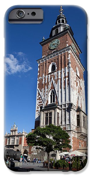 Town Square iPhone Cases - Wieza Ratuszowa, The 13th Century Town iPhone Case by Panoramic Images