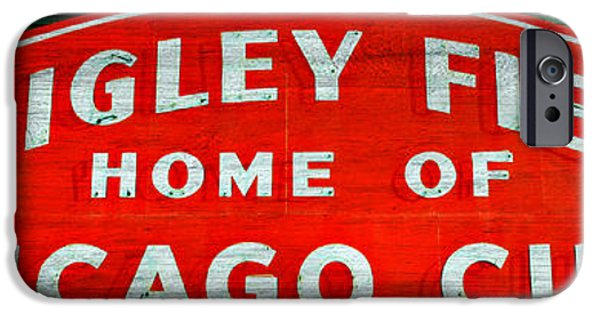 Baseball Stadiums iPhone Cases - Wrigley Field Sign -- No.3 iPhone Case by Stephen Stookey