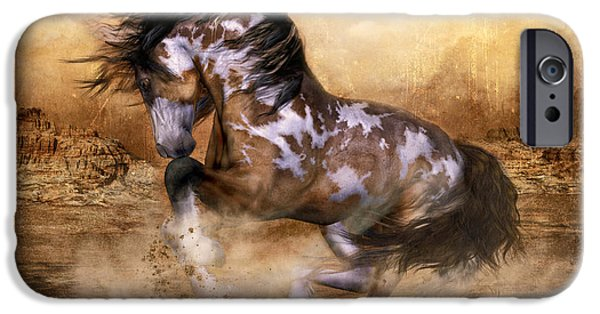 Wild Horse iPhone Cases - Wild and The Free iPhone Case by Shanina Conway