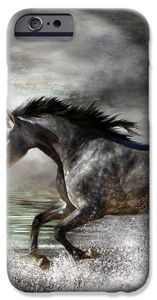 Wild As The Sea iPhone Case by Carol Cavalaris