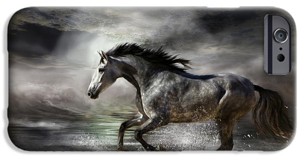 The Horse iPhone Cases - Wild As The Sea iPhone Case by Carol Cavalaris