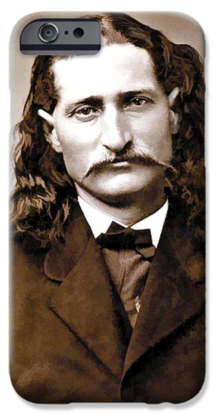 WILD BILL HICKOK PAINTERLY iPhone Case by Daniel Hagerman