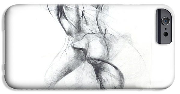 Ballerina Drawings iPhone Cases - Wild Dancer iPhone Case by Christopher Williams