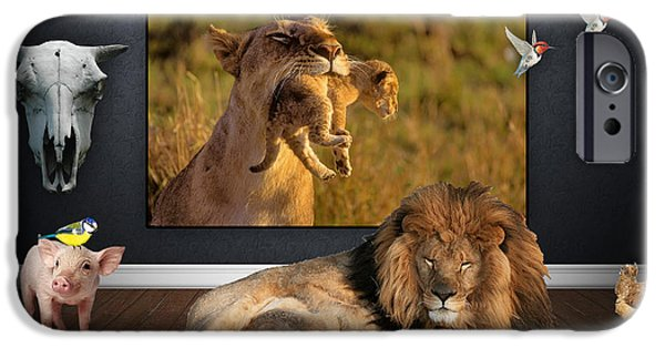 Lion iPhone Cases - Wild Dreams iPhone Case by Marvin Blaine