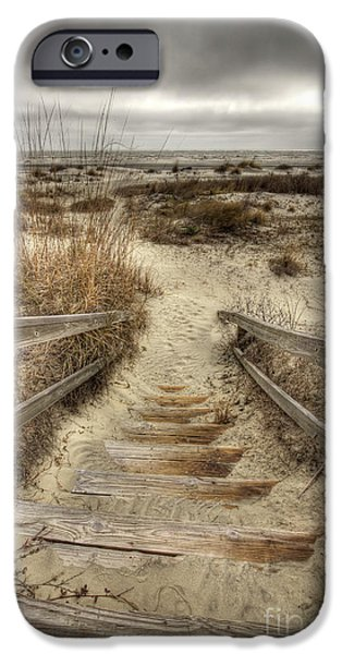 Pathway iPhone Cases - Wild Dunes Beach South Carolina iPhone Case by Dustin K Ryan