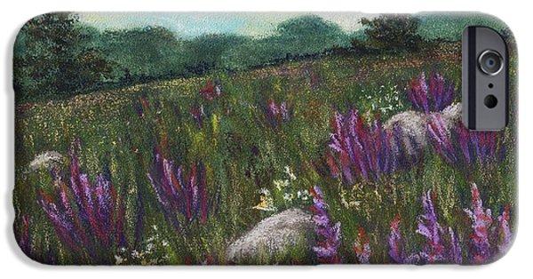 Flower Pastels iPhone Cases - Wild Flower Field iPhone Case by Anastasiya Malakhova
