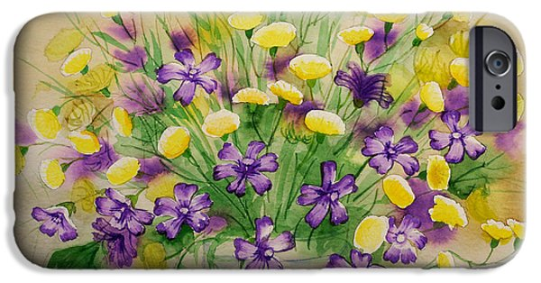 Floral Sculptures iPhone Cases - Wild Flowers-1 iPhone Case by Khromykh Natalia