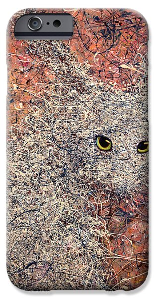 Ears iPhone Cases - Wild Hare iPhone Case by James W Johnson