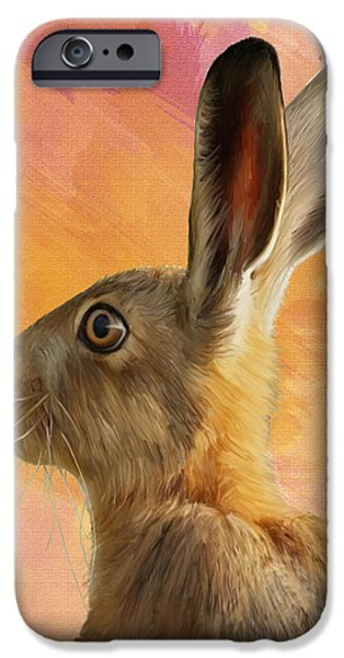 Wild Hare iPhone Case by Tanya Hall