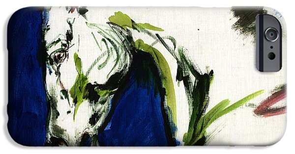 Abstract Expression iPhone Cases - Wild Horse iPhone Case by Angel  Tarantella