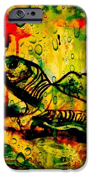 Michelle Mixed Media iPhone Cases - Wild iPhone Case by Michelle Hynes