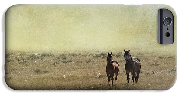 The Horse iPhone Cases - Wild Pair iPhone Case by Juli Scalzi