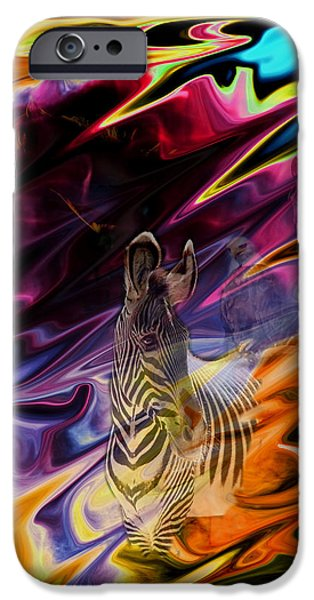 Abstract Digital Photographs iPhone Cases - Wild Places iPhone Case by Aidan Moran