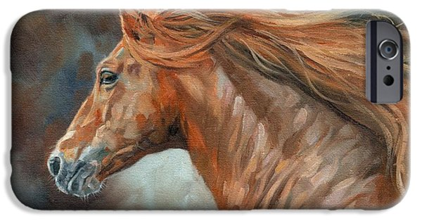 Horse Artist iPhone Cases - Wild Stallion iPhone Case by David Stribbling