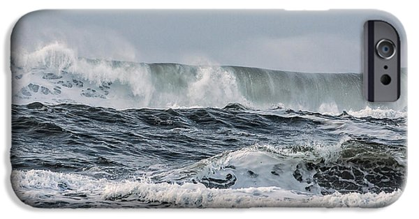 Ocean Tapestries - Textiles iPhone Cases - Wild Surf iPhone Case by Dennis Bucklin
