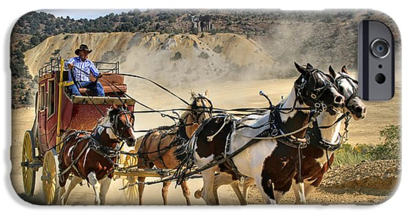 Animals Photographs iPhone Cases - Wild West Ride iPhone Case by Donna Kennedy