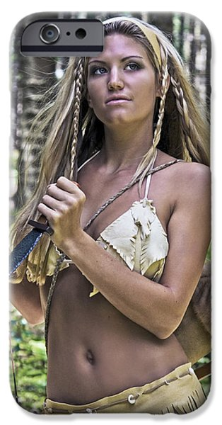 Warrior Goddess Photographs iPhone Cases - Wild Woman 3 iPhone Case by Don Ewing