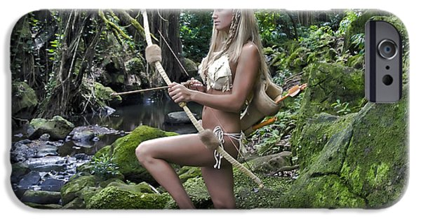 Warrior Goddess Photographs iPhone Cases - Wild Woman 4 iPhone Case by Don Ewing