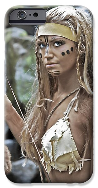 Warrior Goddess Photographs iPhone Cases - Wild Woman 1 iPhone Case by Don Ewing