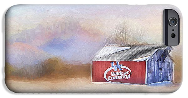 Old Barn iPhone Cases - WildCat Country iPhone Case by Darren Fisher