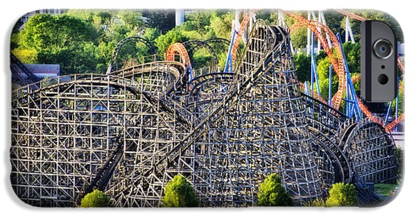 Hershey iPhone Cases - Wildcat Roller Coaster - Hershey Park iPhone Case by Bill Cannon