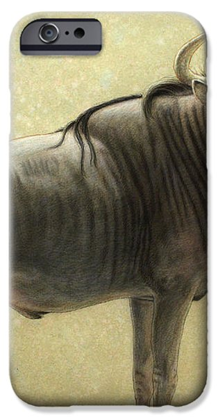 Wildebeest iPhone Case by James W Johnson
