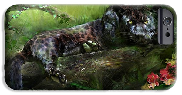 Panther iPhone Cases - WildEyes - Panther iPhone Case by Carol Cavalaris