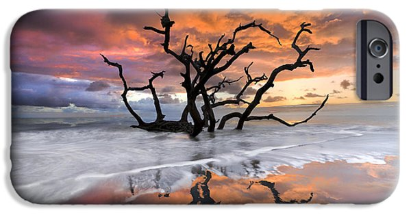 Sunset iPhone Cases - Wildfire iPhone Case by Debra and Dave Vanderlaan