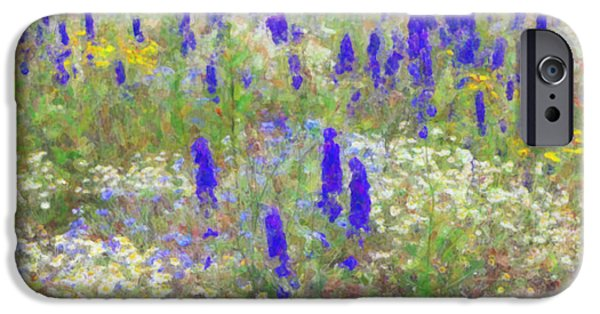 Botany Digital Art iPhone Cases - Wildflower Watercolour iPhone Case by Tim Gainey