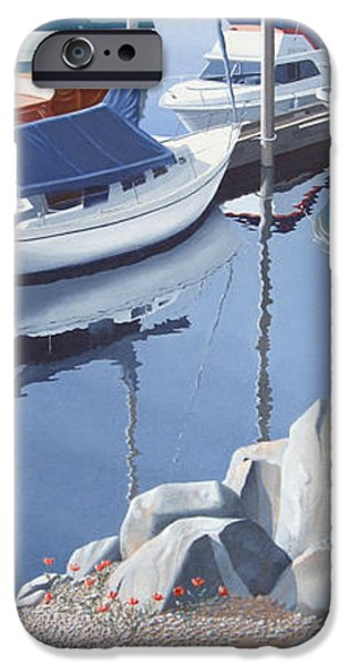 Sailboat iPhone Cases - Wildflowers on the breakwater iPhone Case by Gary Giacomelli