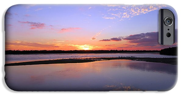 J N Ding Darling National Wildlife Refuge iPhone Cases - Wildlife Drive Sunset iPhone Case by Patricia Januszkiewicz