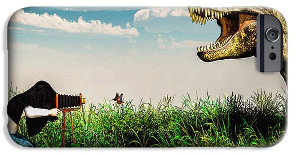 Decorative Digital Art iPhone Cases - Wildlife Photographer  iPhone Case by Bob Orsillo