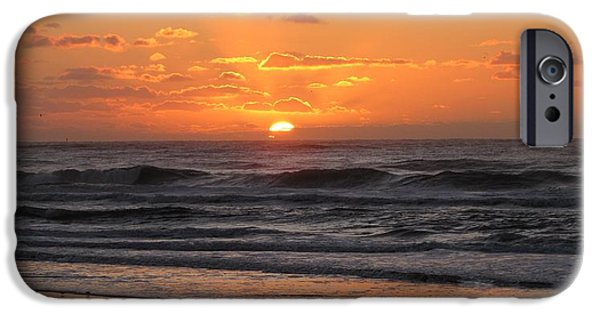 Seagull iPhone Cases - Wildwood Beach Here Comes the Sun iPhone Case by David Dehner