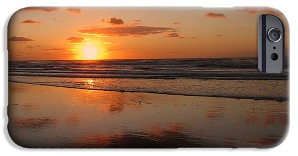 Seagull iPhone Cases - Wildwood Beach Sunrise iPhone Case by David Dehner