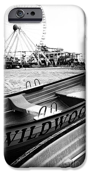 New Jersey iPhone Cases - Wildwood Black iPhone Case by John Rizzuto