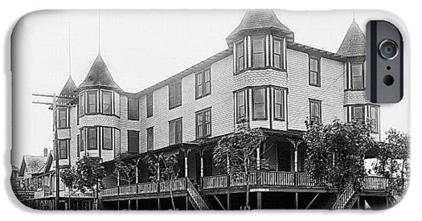 World War One iPhone Cases - Wildwood New Jerseys Historic Edgeton Inn Hotel iPhone Case by Thom Fontannaz