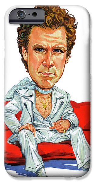 Comedian iPhone Cases - Will Ferrell iPhone Case by Art