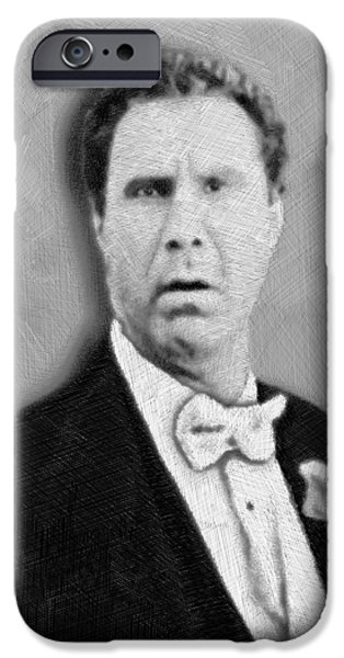 Eastbound And Down iPhone Cases - Will Ferrell Old School  iPhone Case by Tony Rubino
