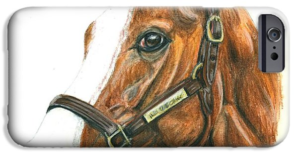 Horse Racing iPhone Cases - Will Take Charge iPhone Case by Pat DeLong