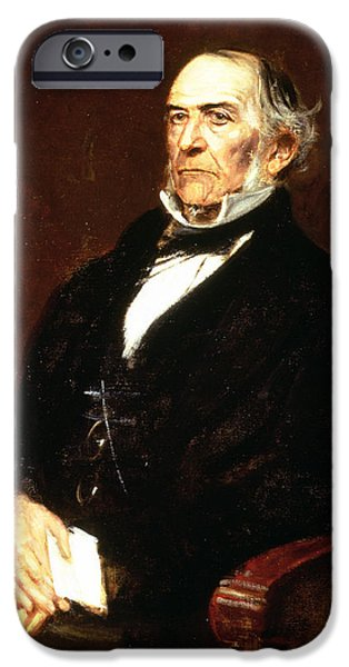 Liberal iPhone Cases - William Ewart Gladstone, 1879 Oil On Canvas iPhone Case by Franz Seraph von Lenbach