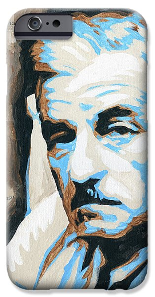 Recently Sold -  - Fury iPhone Cases - William Faulkner with Title Pages iPhone Case by Jenny Hall