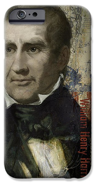 Franklin Paintings iPhone Cases - William Henry Harrison iPhone Case by Corporate Art Task Force
