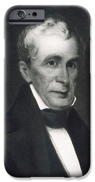 White House Paintings iPhone Cases - William Henry Harrison iPhone Case by Eliphalet Frazer Andrews