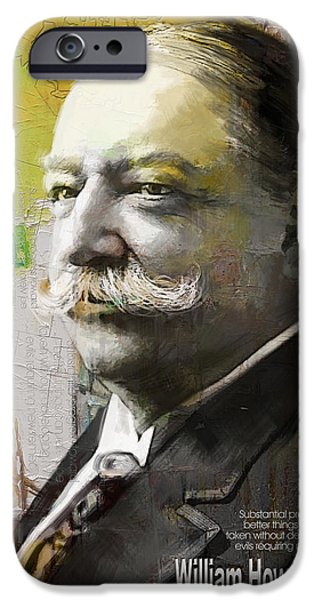 Thomas Jefferson Paintings iPhone Cases - William Howard Taft iPhone Case by Corporate Art Task Force