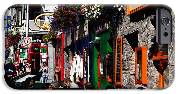 Enterprise iPhone Cases - William Street, Galway City, Ireland iPhone Case by Panoramic Images