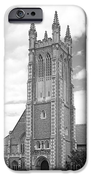 Williams iPhone Cases - Williams College Thompson Memorial Chapel iPhone Case by University Icons