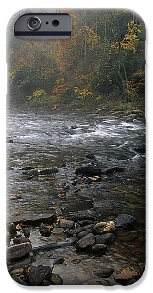 Williams River Autumn Mist iPhone Case by Thomas R Fletcher