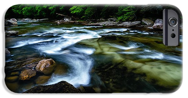 Trout Stream Landscape iPhone Cases - Williams River Downstream View iPhone Case by Thomas R Fletcher