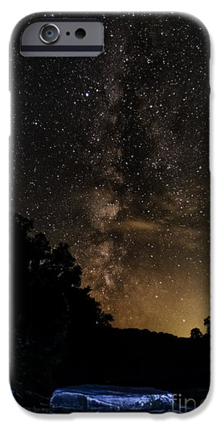 Trout Stream Landscape iPhone Cases - Williams River Milky Way iPhone Case by Thomas R Fletcher