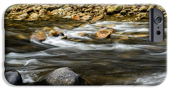 Trout Stream Landscape iPhone Cases - Williams River Summer Flow iPhone Case by Thomas R Fletcher